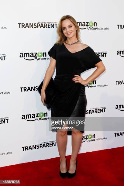 Mena Suvari attends the premiere of Amazon Studios' 'Transparent' at Ace Hotel on September 15 2014 in Los Angeles California