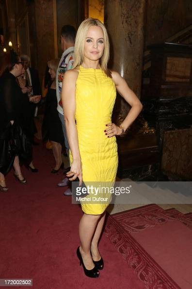 Mena Suvari attends the Versace show as part of Paris Fashion Week HauteCouture Fall/Winter 20132014 at on June 30 2013 in Paris France