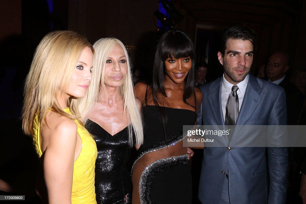 <a gi-track='captionPersonalityLinkClicked' href=/galleries/search?phrase=Mena+Suvari&family=editorial&specificpeople=156413 ng-click='$event.stopPropagation()'>Mena Suvari</a>, Donatella Versace, <a gi-track='captionPersonalityLinkClicked' href=/galleries/search?phrase=Naomi+Campbell&family=editorial&specificpeople=171722 ng-click='$event.stopPropagation()'>Naomi Campbell</a> and <a gi-track='captionPersonalityLinkClicked' href=/galleries/search?phrase=Zachary+Quinto&family=editorial&specificpeople=715956 ng-click='$event.stopPropagation()'>Zachary Quinto</a> backstage after the Versace show as part of Paris Fashion Week Haute-Couture Fall/Winter 2013-2014 at on June 30, 2013 in Paris, France.