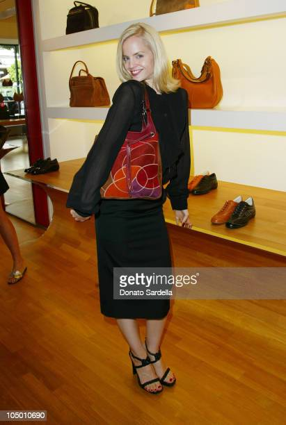 Mena Suvari during Hogan Trunk Show in Los Angeles at Hogan Store Los Angeles in Los Angeles California United States