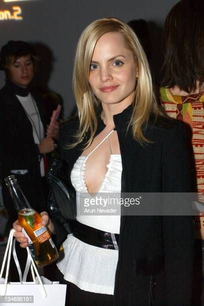 Mena Suvari during MercedesBenz Shows LA Shawn Front Row at The Standard Downtown LA in Los Angeles California United States