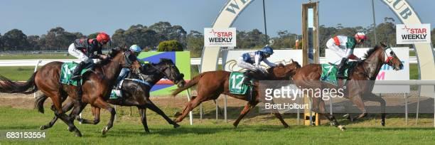 Menabrea ridden by Ben Allen wins the Wilson Medic Rising Stars BM58 Handicap at Werribee Racecourse on May 15 2017 in Werribee Australia