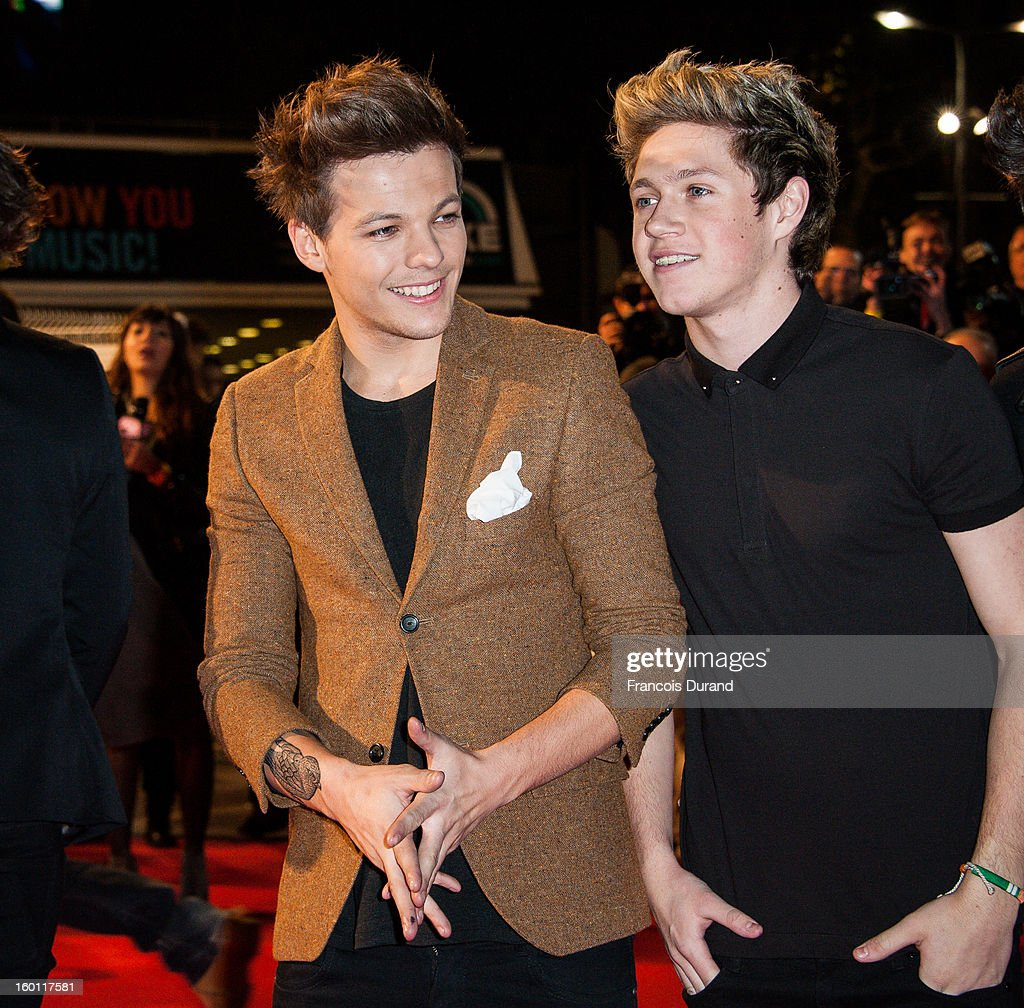 Menbers of band 'One Direction' Niall Horan and Liam Payne attend the NRJ Music Awards 2013 at Palais des Festivals on January 26, 2013 in Cannes, France.