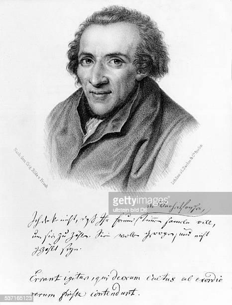 Mendelssohn Moses Philosoph Literaturkritiker D Portrait nach v Frisch mit handschriftlichem Zusatz undatiert