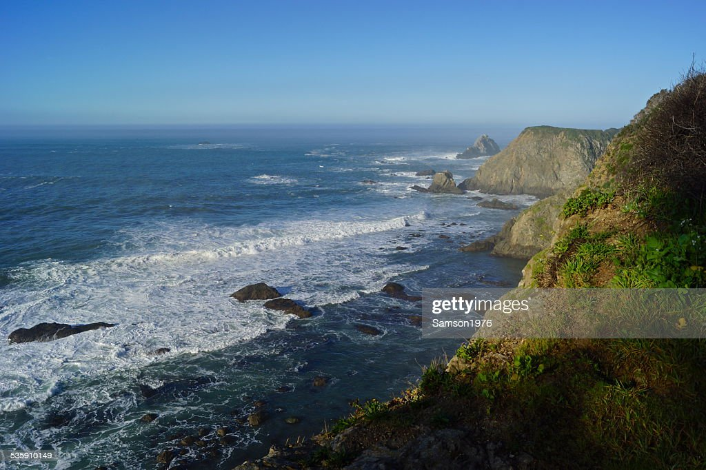 Mendocino Cliff Edge : Foto de stock