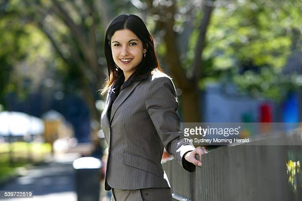 Meningococcal survivor Nicole Haj pictured in a City Park 7 September 2005 SMH Picture by QUENTIN JONES