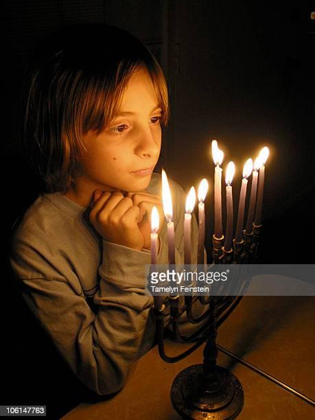 Menorah glow