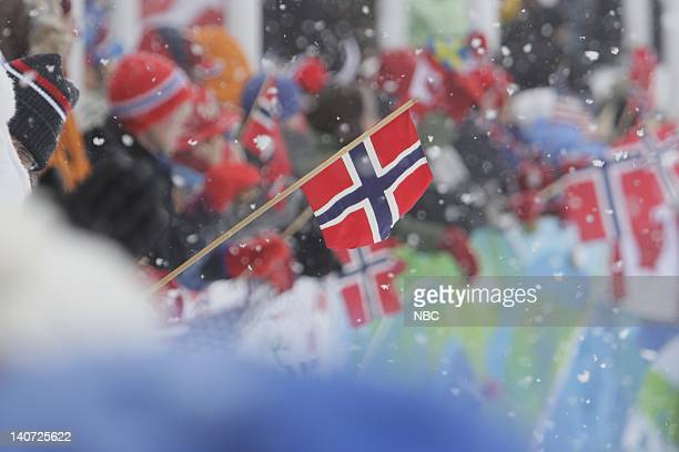 GAMES Men's 4x10 Kilometer Cross Country Relay Classic Pictured Fans from Norway cheer on their Cross Country team Photo by Paul Drinkwater/NBCU...