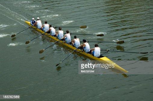 Mens 8 Man Rowing Team - Teamwork