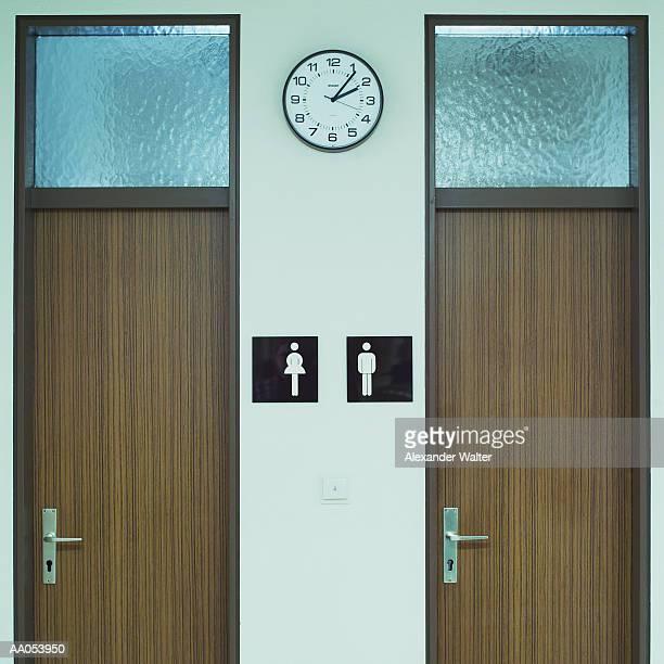 Men's and Women' s bathrooms
