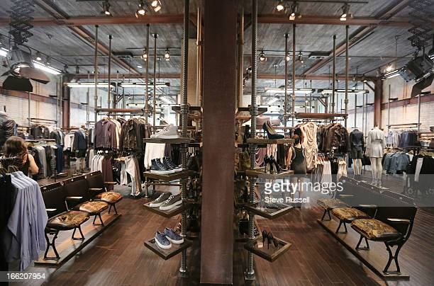Mens and womenswear as the UK fashion retailer AllSaints open a boutique at the Yorkdale Shopping Centre in Toronto
