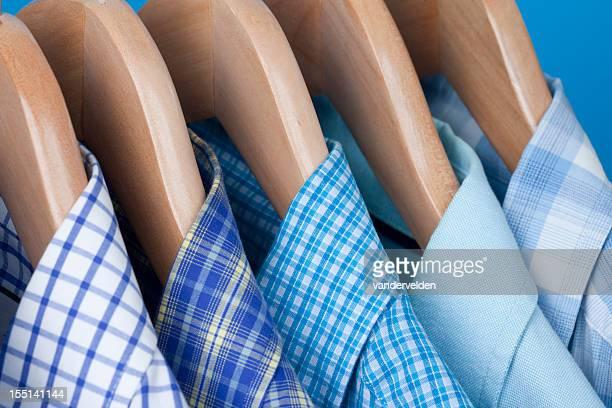 Mens Blue Shirts On Hangers