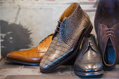 mens shoes in shoe store