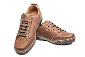 Men's Brown Shoes Hiking Boot high quality and high resolution studio shoot