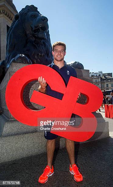 men's Captain Tom Mitchell poses for a photo during the announcement of Rugby 7's athletes named in Team GB for the Rio 2016 Olympic Games on July 19...