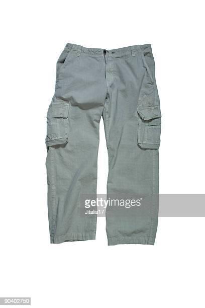Hombres pantalones guerreros-Stone colores sobre fondo blanco