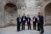 Men's choir at St. Dominius Cathedral rotunda