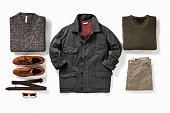 men's clothes isolated on white background( with clipping path)