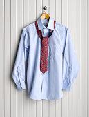 Men's Dress Shirt on Coat Hanger