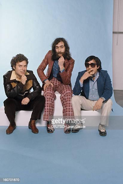 Men's Fashion France Paris 1973 Les pionniers du prêtàporter masculin qui ont révolutionné la mode 'HOMME' Michel RENOMA blouson de cuir à bandes...
