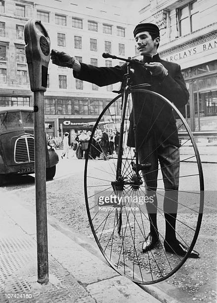 Mens Fashions Past Present And Future 1883 Fashion And Penny Farthing At London In England
