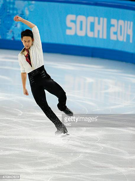 GAMES 'Men's Figure Skating Free Skate' Pictured Denis Ten during the Men's Figure Skating Free Skate on February 14 2014 during the XXII Olympic...