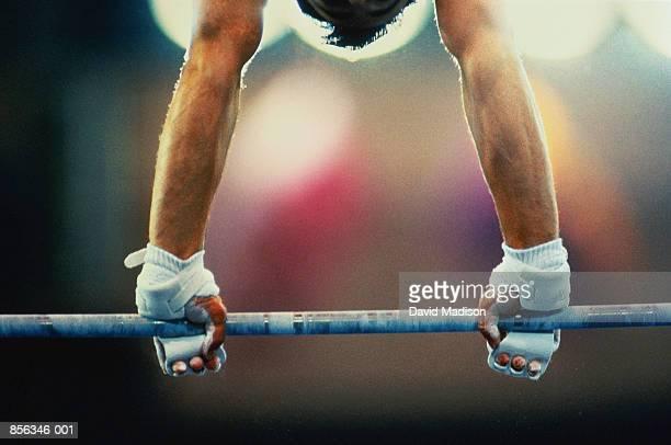 Men's gymnastics,close-up of hands gripping bar