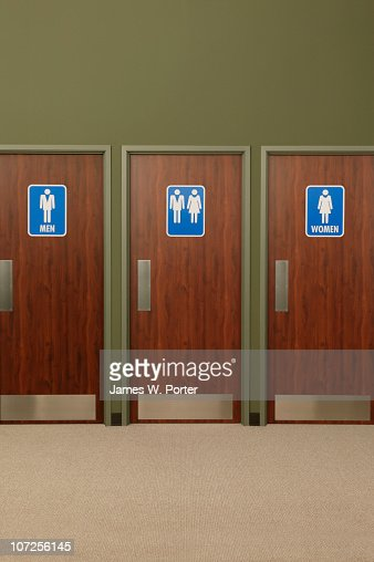 Men  39 s room  women  39 s room  and unisex bathroom   Stock Photo. Mens Room Womens Room And Unisex Bathroom Stock Photo   Getty Images
