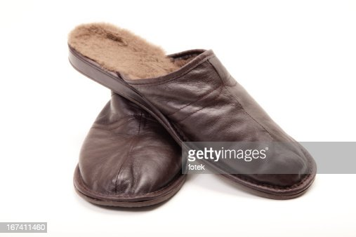 Men's Slippers : Stock Photo