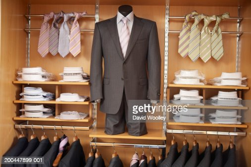 Mens Suits Shirts And Ties In Store Display Stock Photo | Getty Images