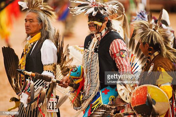 Mens traditional powwow dancers Gallup InterTribal Indian Ceremonial Gallup New Mexico