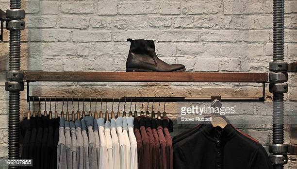 Menswear as the UK fashion retailer AllSaints open a boutique at the Yorkdale Shopping Centre in Toronto