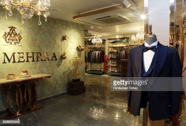 Menswear collections displayed during the launch of a new menswear store at South Extension 1 on October 2 2017 in New Delhi India The massive store...