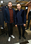 Menswear designer Lucio Castro and Carlos Campos attend the GQ event at Lord Taylor featuring Rueben Randle on October 8 2015 in New York City