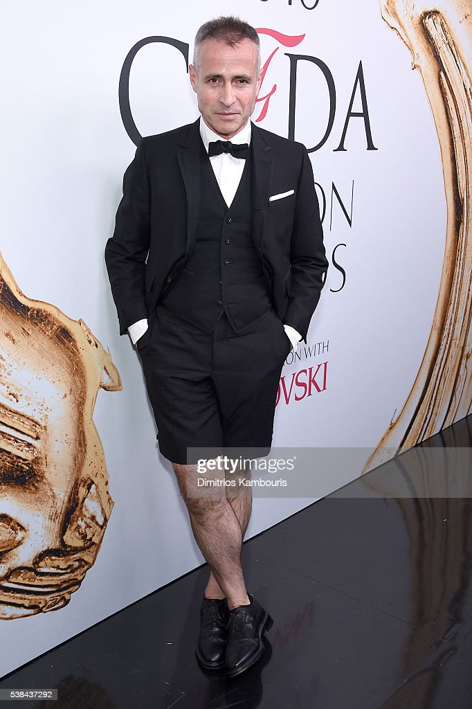 Menswear Designer of the Year Thom Browne attends the 2016 CFDA Fashion Awards at the Hammerstein Ballroom on June 6 2016 in New York City