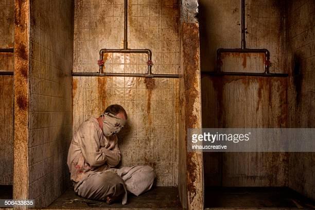 Geistige Patienten in der Dusche