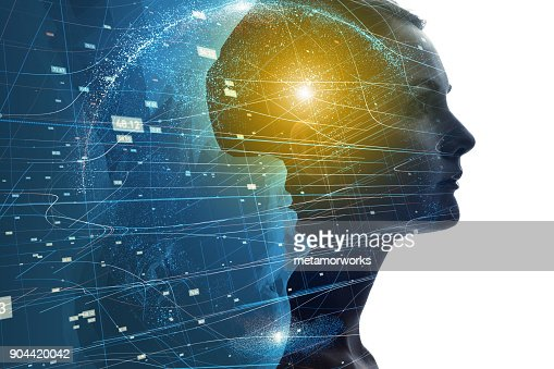 Mental world of human concept. : Stock Photo