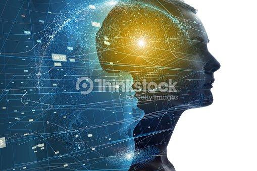 Mundo mental del concepto humano. : Foto de stock