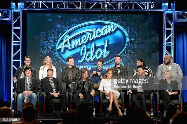 Mentor Scott Borchetta Host Ryan Seacrest Judge Keith Urban Judge Jennifer Lopez Judge Harry Connick Jr Executive Producer Trish Kinane S14 Winner...