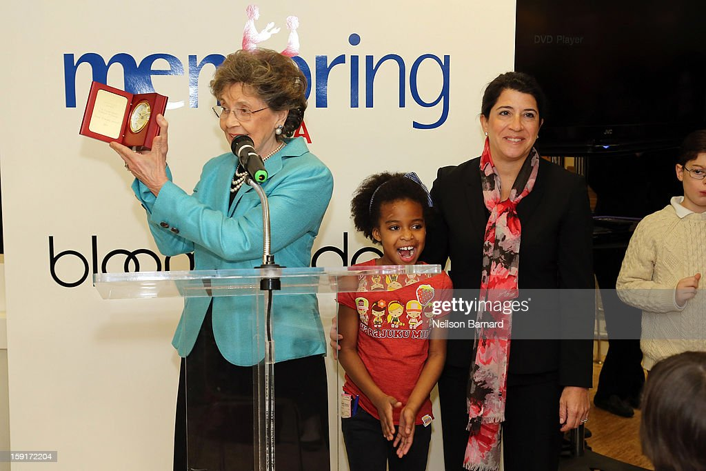 Mentoring USA Founder <a gi-track='captionPersonalityLinkClicked' href=/galleries/search?phrase=Matilda+Cuomo&family=editorial&specificpeople=651332 ng-click='$event.stopPropagation()'>Matilda Cuomo</a> (L) and mentor Suzy Shlensky Aronoff attend Bloomingdale's 59th St. and Mentoring USA's celebration of National Mentoring Month on January 9, 2013 in New York City.