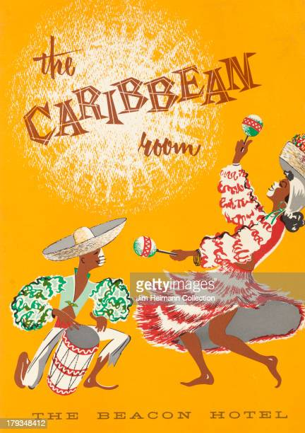 A menu for Beacon Hotel Caribbean Room reads ' The Caribbean Room Beacon Hotel' from 1953 in Canada