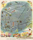 A menu for Don the Beachcomber reads 'Don the Beachcomber' from 1941 in USA