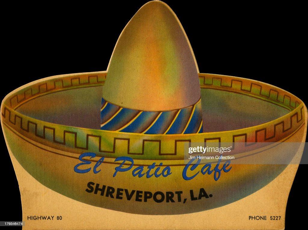 A Menu For El Patio Cafe Reads U0027El Patio Cafe Sheveport LAu0027 From 1948