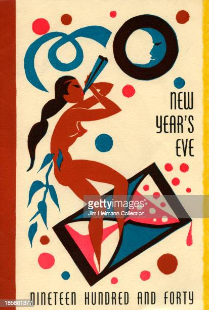 A menu for Hotel Del Monte reads 'New Year's Eve Nineteen Hundred And Forty' from 1940 in USA
