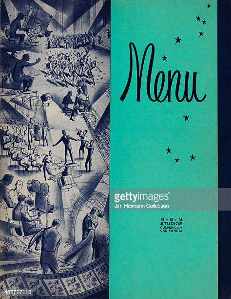 A menu for MGM Studios reads 'Menu' from 1947 in USA