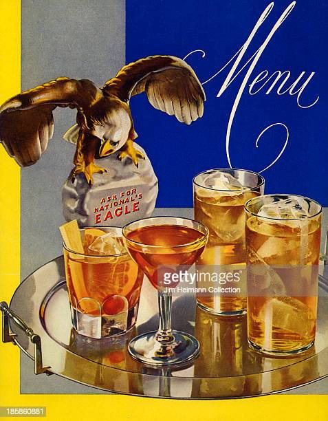 A menu for National's Eagle reads 'Menu' from 1945 in USA