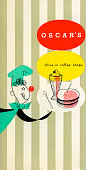 A menu for Oscar's reads 'Oscar's Drive In Coffee Shops' from 1956 in USA