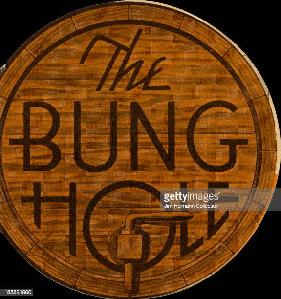A menu for The Bung Hole reads 'The Bung Hole' from 1941 in USA