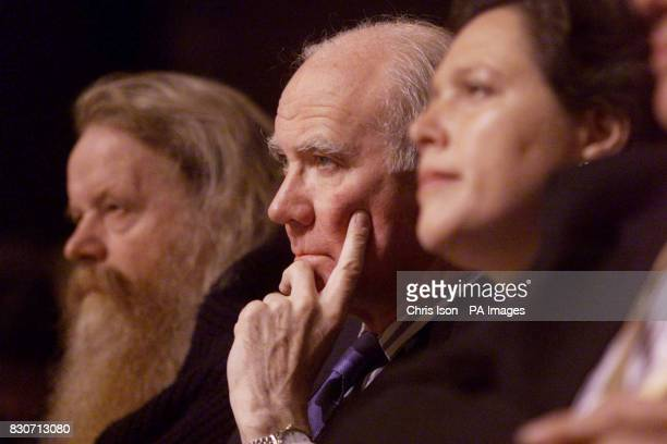 Menzies Campbell QC MP and Susan Kramer listen to the debate on terrorism at the opening of the Liberal Democrat Party's annual conference in...