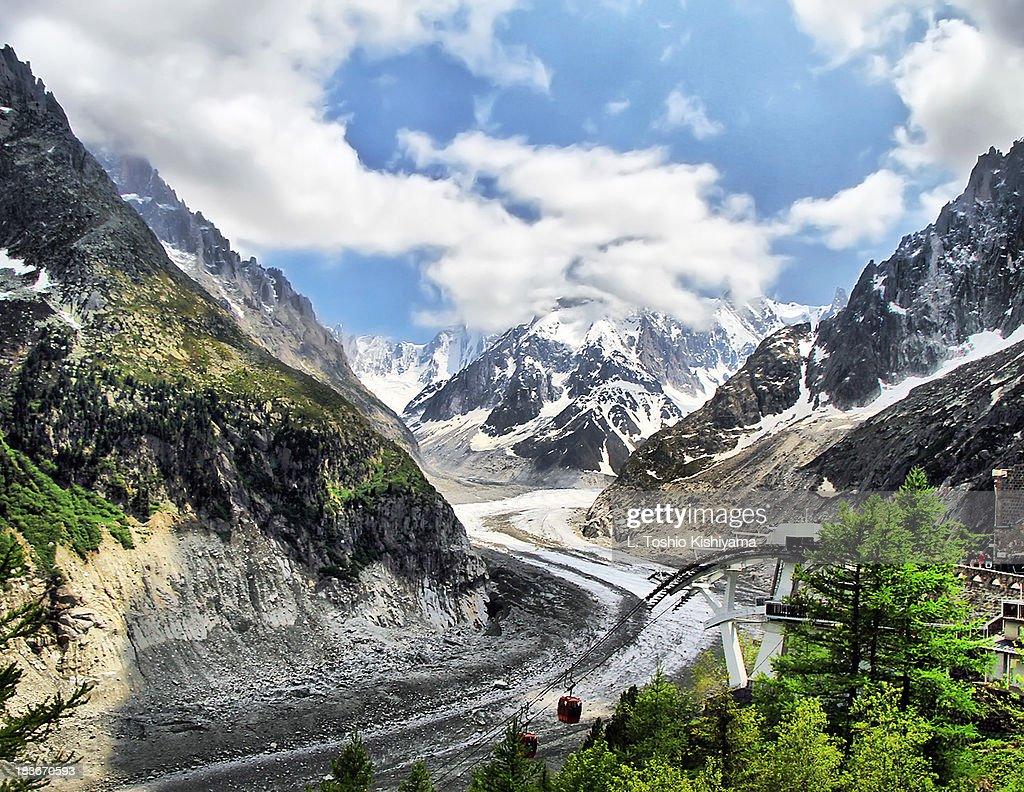 Mer de Glace Glacier at Mont Blanc